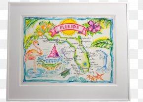 Watercolor Map - WaterColor, Florida Art Watercolor Painting Drawing PNG