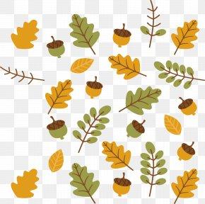 Autumn Leaf Vector - Autumn Leaf Color Branch Clip Art PNG
