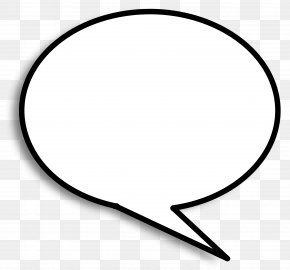 Speech Bubble - Line Angle Point Black And White PNG