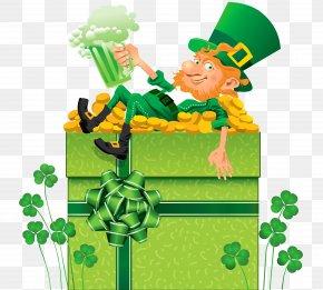 St Patricks Day Decor With Shamrocks And Leprechaun PNG Clipart - Saint Patrick's Day Ireland St. Patrick's Day Shamrocks Clip Art PNG