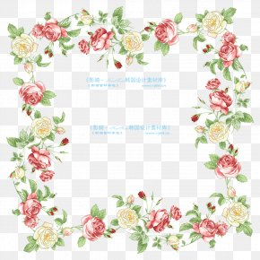 Flower - Border Flowers Picture Frame Clip Art PNG