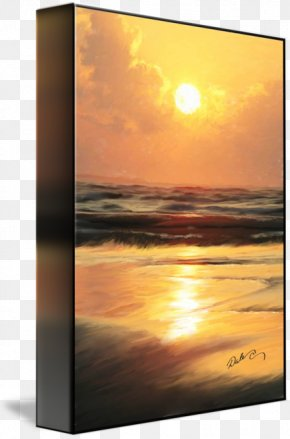 Sunset Beach - Picture Frames Gallery Wrap Canvas Art Printmaking PNG