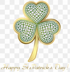 St Patricks Day Gold Shamrock PNG Clip Art Image - Saint Patrick's Day Shamrock Holiday Irish People Clip Art PNG