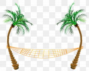 Transparent Palm Beach Hammock Clipart - Beach Clip Art PNG