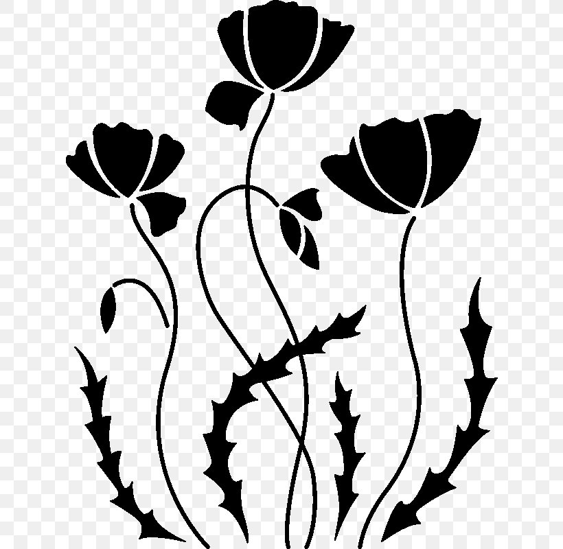PNG Floral abstract stencil file