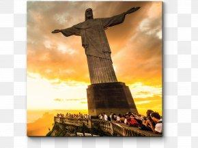 Christ The Redeemer - Christ The Redeemer Copacabana, Rio De Janeiro Sugarloaf Mountain Carnival In Rio De Janeiro Photograph PNG