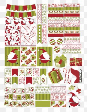 Happy Planner - Christmas Day Santa Claus Paper Sticker Holiday PNG
