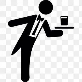 Waiter User Icon Design PNG
