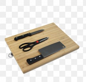 Cutting Board And Knife - Kitchen Knife Cutting Board Wood PNG