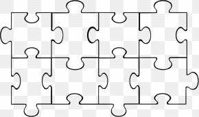 Puzzle Template - Jigsaw Puzzle Coloring Book Clip Art PNG