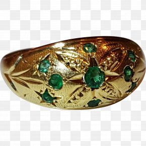 Emerald - Bangle Jewellery Gemstone Gold Clothing Accessories PNG