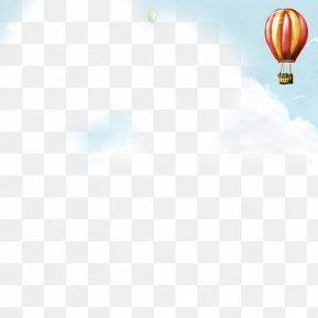 Blue Sky Hot Air Balloon - Daytime Sky Hot Air Balloon Walkie-talkie Wallpaper PNG