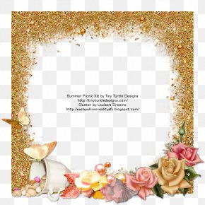 Summer Picnic - Picture Frames Floral Design Reality PNG