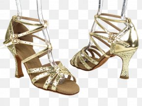 Gold Shoes - Dancesport Very Fine Dance Shoes Buty Taneczne Competitive Dance PNG