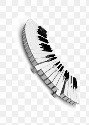 Black And White Keys - Musical Keyboard Black And White Piano PNG