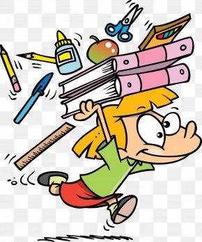 School Supplies - Cartoon School Clip Art PNG