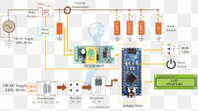 Meter - Wiring Diagram Arduino Electrical Wires & Cable Circuit Diagram Electricity Meter PNG