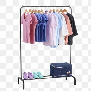 Simple Bedroom Cool Clothes Rod For Hanging Clothes Rack - Vintage Clothing Coat Rack Clothes Hanger Clothes Horse PNG