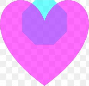 Heart - Purple Heart Light Clip Art PNG