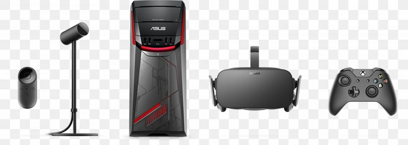 Oculus Rift HTC Vive Virtual Reality Headset Oculus VR, PNG, 1920x685px, Oculus Rift, Asus G11cd, Audio, Communication, Computer Accessory Download Free