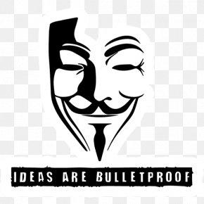 Silhouette - Guy Fawkes Mask Silhouette V For Vendetta PNG