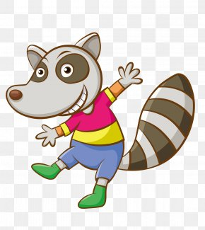 Raccoon - Raccoon Cartoon Funny Animal Clip Art PNG