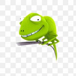 Free Green Lizard Pull Material - Lizard Humour Joke Cartoon PNG