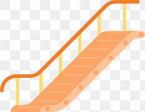 Orange Stairs - Centralu2013Mid-Levels Escalator And Walkway System Stairs Elevator PNG