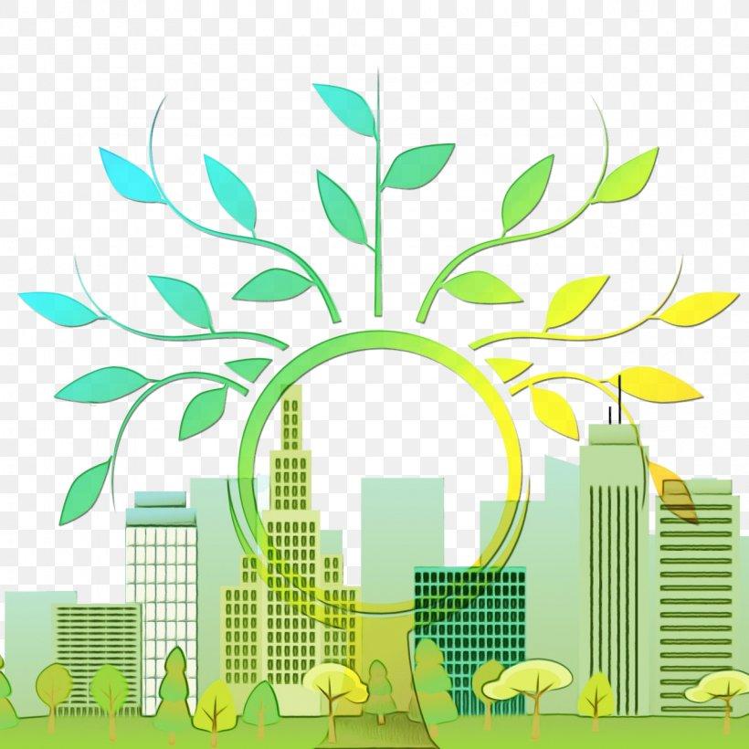 Green Leaf Tree Yellow Human Settlement, PNG, 1280x1280px, Watercolor, Grass, Green, Human Settlement, Leaf Download Free