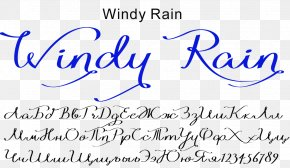 Windy Rain - Open-source Unicode Typefaces Handwriting Italic Type Font PNG