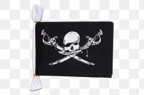 Flag - Jolly Roger Piracy Flag Brethren Of The Coast Skull And Crossbones PNG