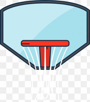 Cartoon Style Basketball Box - Basketball Backboard Breakaway Rim PNG