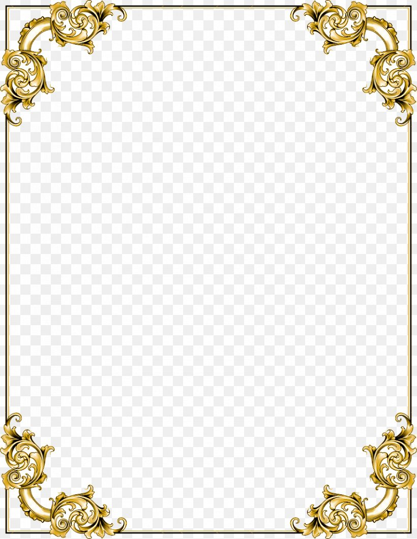 Picture Frame Clip Art, PNG, 850x1100px, Picture Frames, Body Jewelry, Brass, Gold, Image File Formats Download Free