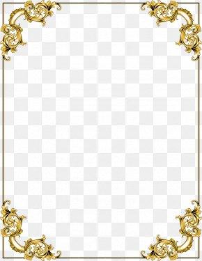Gold Border Frame Transparent Image - Picture Frame Clip Art PNG