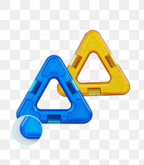 Triangle Magnet Film Material - Magnetism Toy Block Geomag PNG