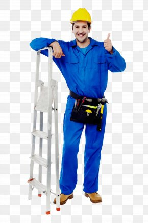 Costume Personal Protective Equipment - Electric Blue Construction Worker Workwear Climbing Harness Personal Protective Equipment PNG