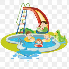 Vector Swimming Pool - Child Euclidean Vector Playground Park Swimming Pool PNG
