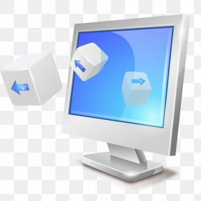 Silver Computer Screen - Computer Monitor Display Device Desktop Computer Icon PNG