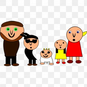 Family Cartoon Pictures - Family Child Mobile Phones Drawing Clip Art PNG