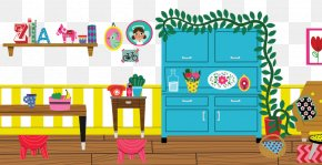 Cartoon Furniture Interior Design - Cartoon Interior Design Services Furniture Illustration PNG