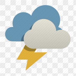 Thunderstorm Size Icon - Thunderstorm Weather Cloud PNG