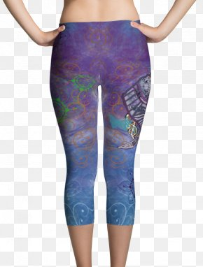 Leggings Mock Up - Leggings T-shirt Capri Pants Textile PNG