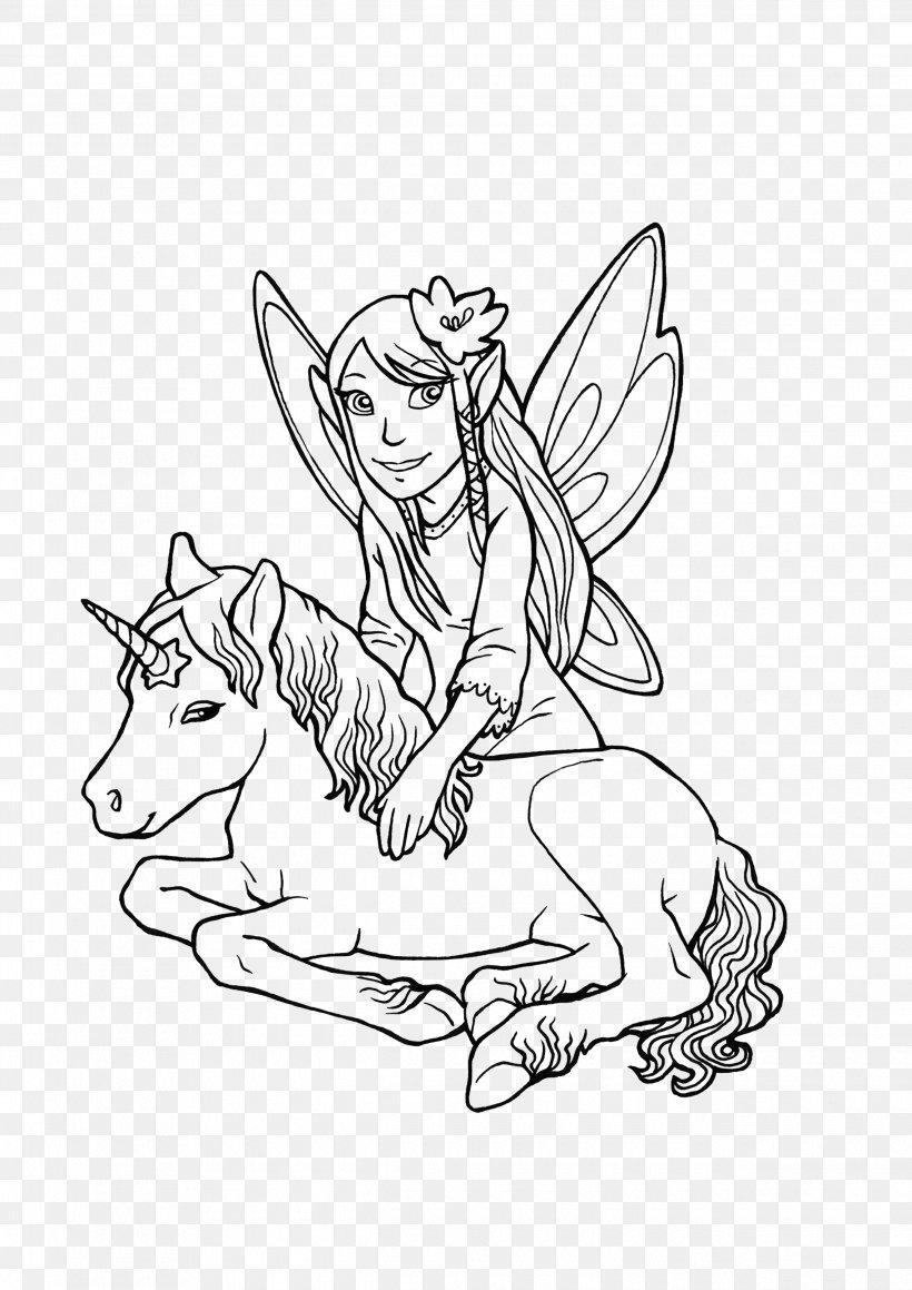 Ausmalbild Elf Unicorn Legendary Creature Coloring Book Png