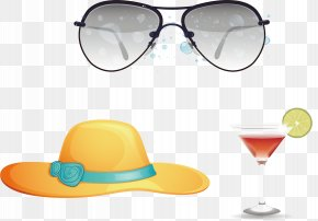 Great Hat Juice Glasses Background Material - Goggles Sunglasses Designer PNG