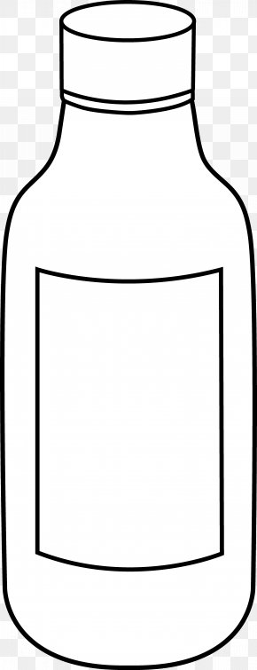 Science Bottle Cliparts - Line Art Bottle Black And White Drawing Clip Art PNG