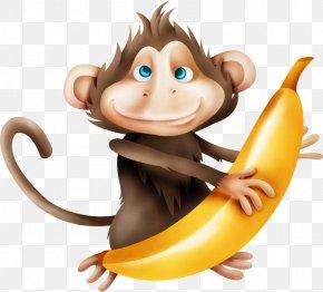 A Little Monkey - Monkey Cartoon Drawing Clip Art PNG