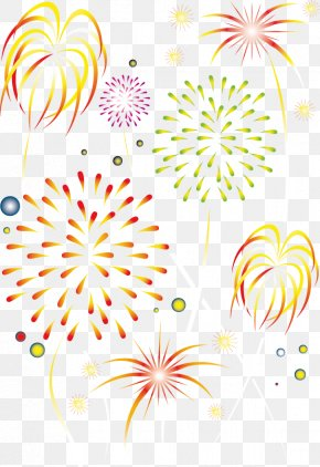 Vector Festive Fireworks - Chinese New Year Fireworks Lantern Public Holidays In China PNG