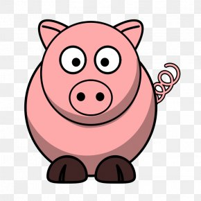 Cow Outline - Domestic Pig Cartoon The Three Little Pigs Clip Art PNG