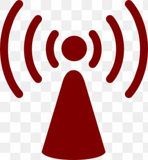 Blood Red - Wireless Access Points Internet Access Wi-Fi Clip Art PNG