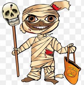 Halloween Mummy - Mummy Halloween Trick-or-treating Clip Art PNG